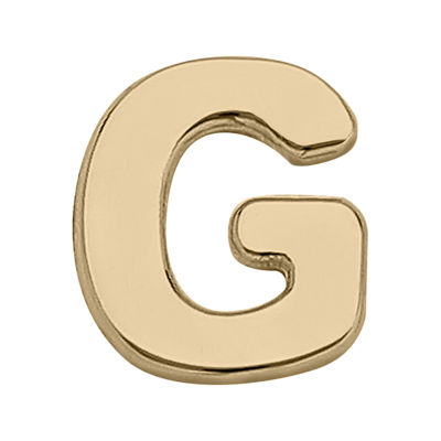 "Teeny Tiny® 10K Yellow Gold Initial ""G"" Single Stud Earring"