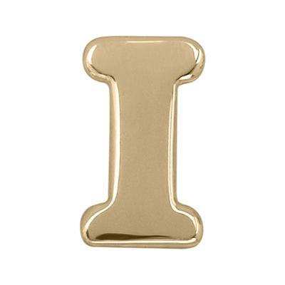 """Teeny Tiny® 10K Yellow Gold Initial """"I"""" Single Stud Earring"""