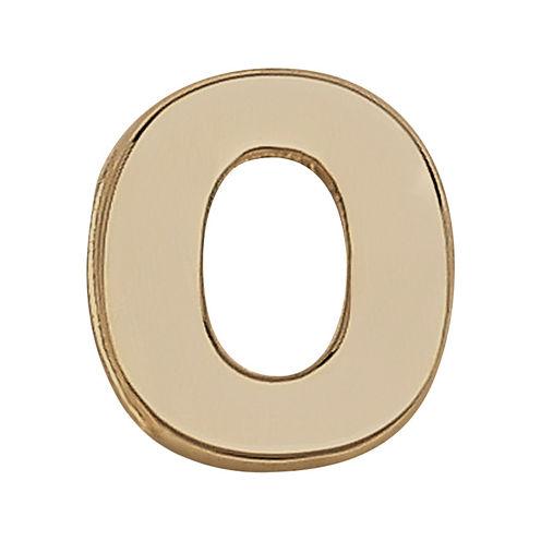 """Teeny Tiny® 10K Yellow Gold Initial """"O"""" Single Stud Earring"""