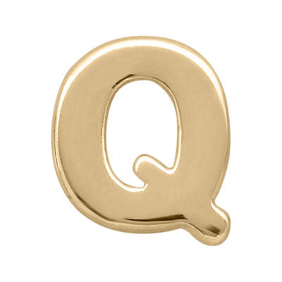 "Teeny Tiny® 10K Yellow Gold Initial ""Q"" Single Stud Earring"