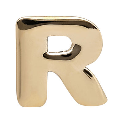 "Teeny Tiny® 10K Yellow Gold Initial ""R"" Single Stud Earring"
