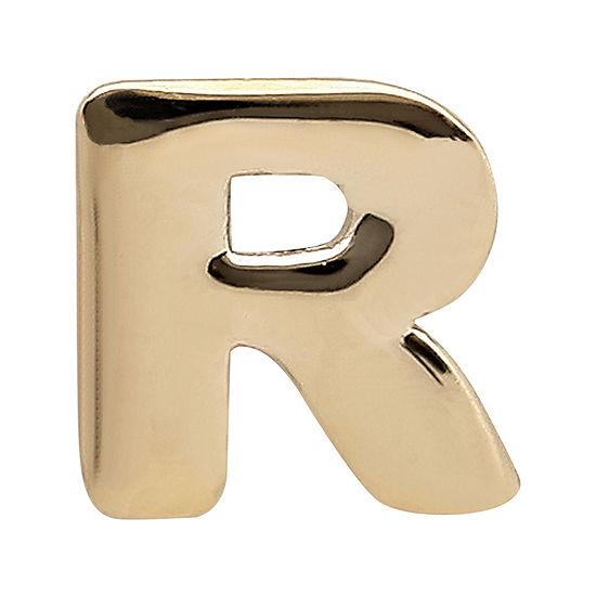 "Teeny Tiny® 10K Yellow Gold Initial ""R"" Single Stud Earring"
