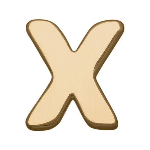 "Teeny Tiny® 10K Yellow Gold Initial ""X"" Single Stud Earring"