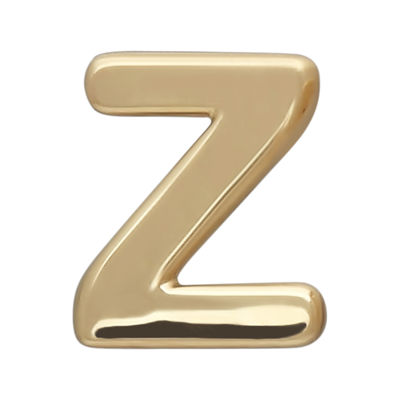 "Teeny Tiny® 10K Yellow Gold Initial ""Z"" Single Stud Earring"
