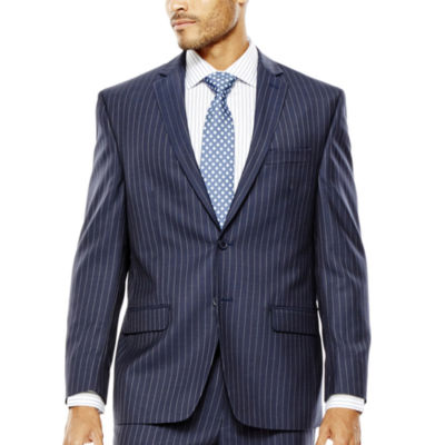 Collection by Michael Strahan Striped Navy Suit Jacket - Classic Fit