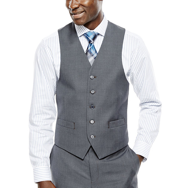 Collection by Michael Strahan Gray Weave Suit Vest - Classic Fit