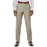 Deals on Collection by Michael Strahan Taupe Flat-Front Suit Pants
