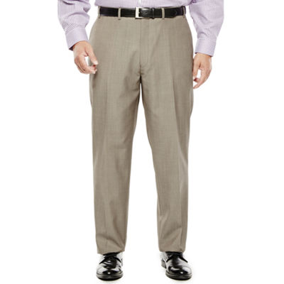 Collection by Michael Strahan Taupe Flat-Front Suit Pants - Big & Tall