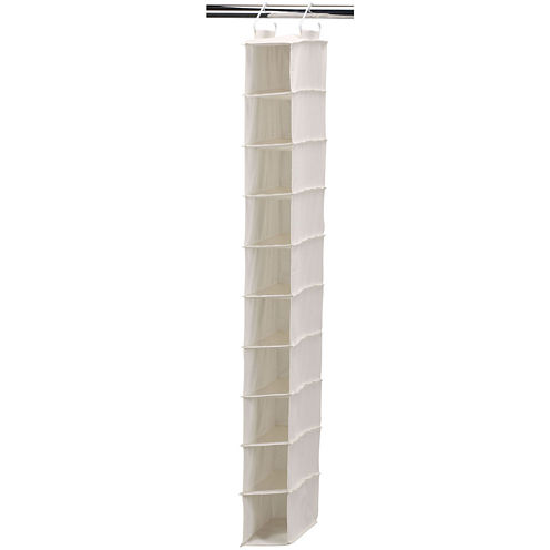 Household Essentials® Canvas 10-Pocket Hanging Shoe Organizer