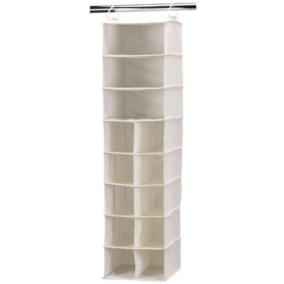 Household Essentials® Canvas 10-Pocket 3-Shelf Organizer
