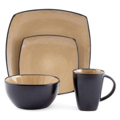 gibson infinite glaze 16pc dinnerware set