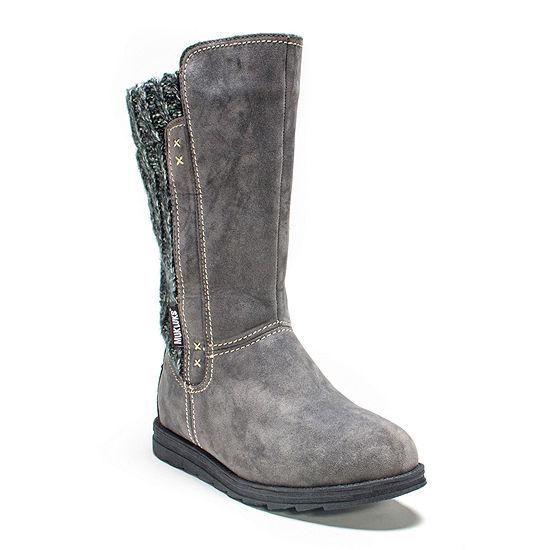 Muk Luks Womens Stacy Water Resistant Winter Boots Flat Heel
