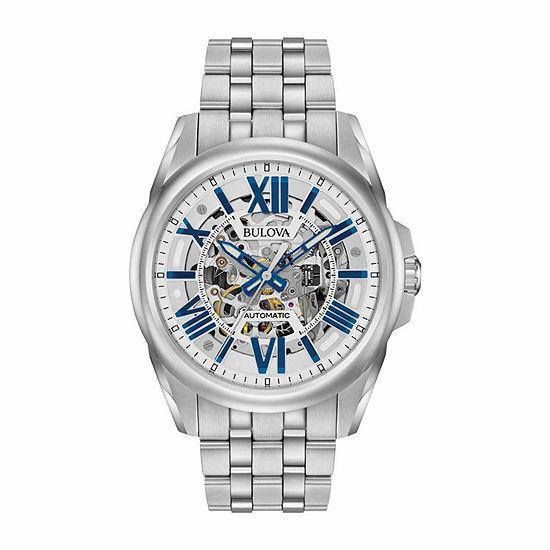 Bulova Sutton Mens Silver Tone Bracelet Watch-96a187