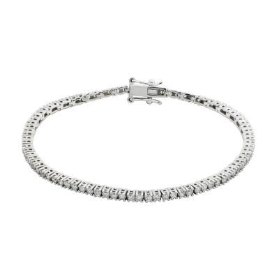 DiamonArt® Sterling Silver Cubic Zircona Tennis Bracelet
