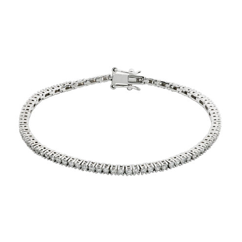 DiamonArt® Sterling Silver CZ Tennis Bracelet