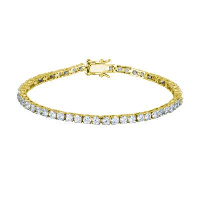 DiamonArt® 18K Yellow Gold over Silver Cubic Zirconia Tennis Bracelet