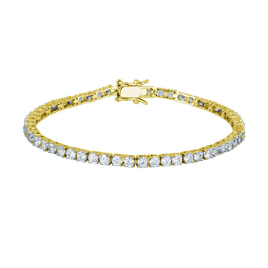 DiamonArt® 18K Yellow Gold over Silver Cubic Zirconia Tennis Bracelet