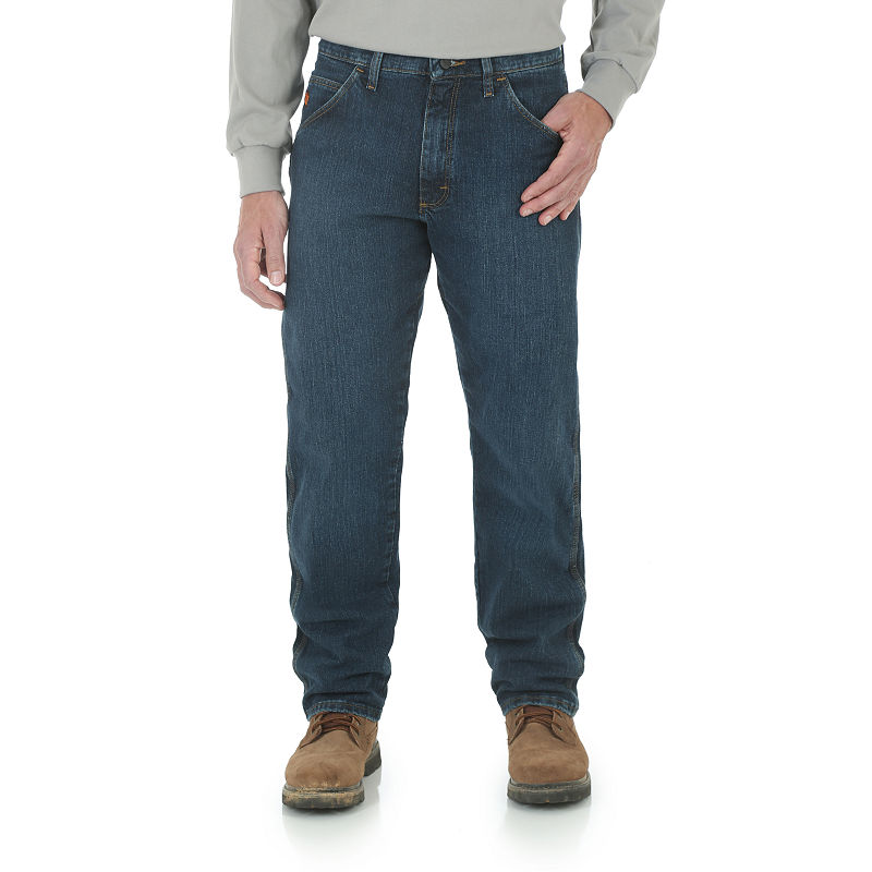 7dc48da4 Wrangler Fire-Resistant Advanced Comfort Relaxed-Fit Jeans, Mens, Size  31x32,