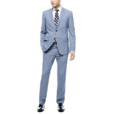 jcpenney.com | JF J. Ferrar® Blue Pattern Jacket or Flat-Front Pants - Slim Fit