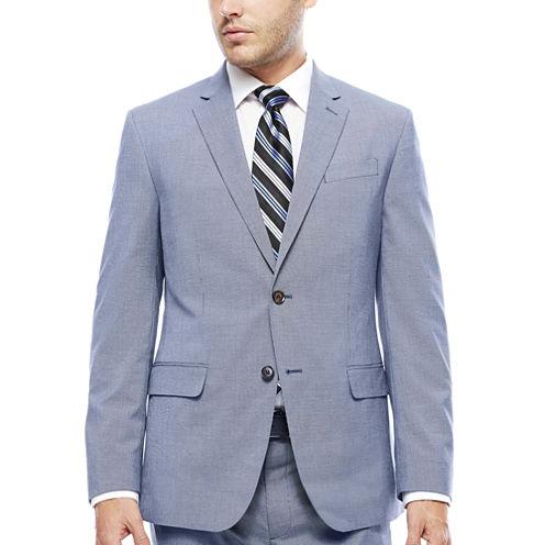 JF J. Ferrar® Blue Pattern Jacket - Slim Fit