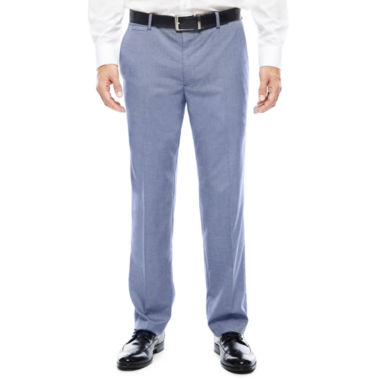Men's JF J. Ferrar® Blue Pattern Flat-Front Slim-Fit Suit Pants