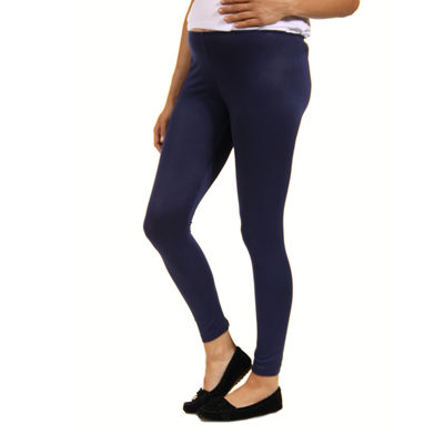 24/7 Comfort Apparel Knit Leggings-Maternity