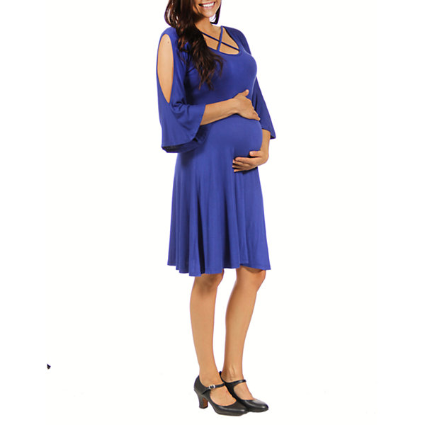24/7 Comfort Apparel Sheath Dress-Maternity