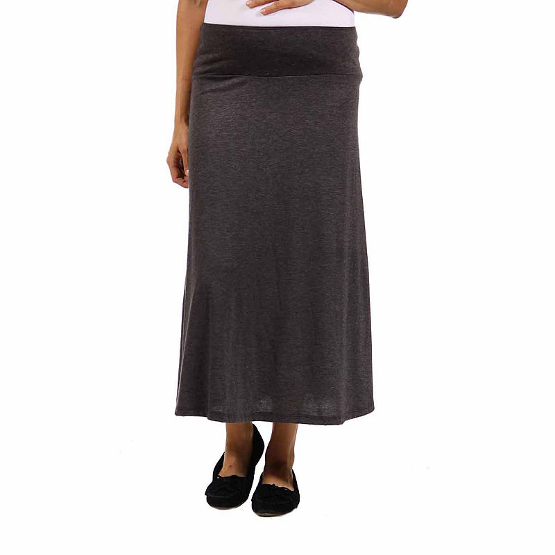 24/7 Comfort Apparel Maxi Skirt-Plus Maternity plus size,  plus size fashion plus size appare