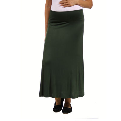 24/7 Comfort Apparel Maxi Skirt-Maternity