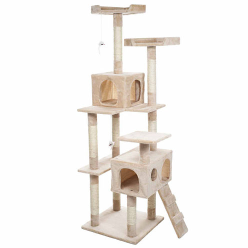 Petmaker 5.5 ft. Skyscraper Sleep and Play Cat Tree