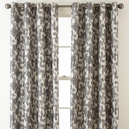 Liz Claiborne Avery Floral Grommet-Top Blackout Curtain Panel
