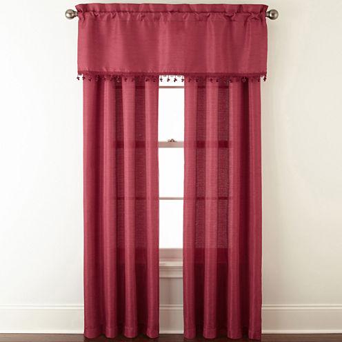 Jardan 3-Pack Jaccquard Rod-Pocket Curtain Panels