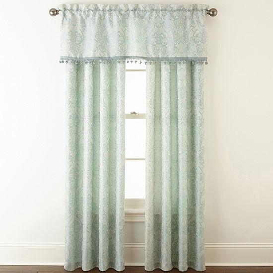 Mercer 3-Pack Jacquard Rod-Pocket Curtain Panels