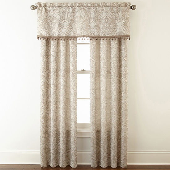 Light-Filtering Rod-Pocket Single Curtain Panel