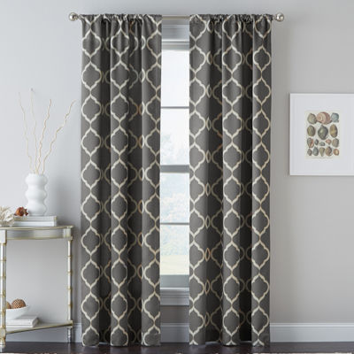 Casbah Trellis Rod-Pocket Curtain Panel
