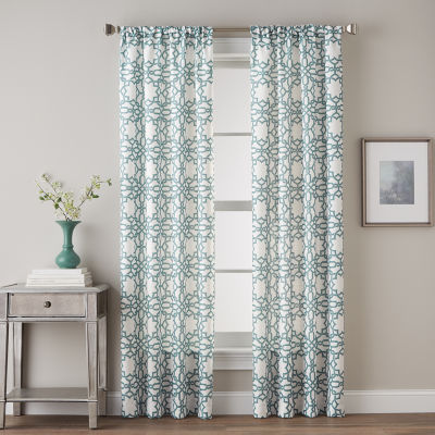 Lotus Harmony Rod-Pocket Curtain Panel