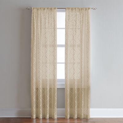 Lyric Rod-Pocket Sheer Curtain Panel