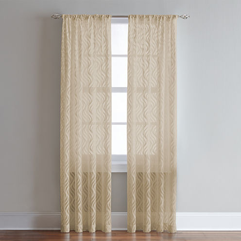 Lyric Rod-Pocket Sheer Curtain Panel