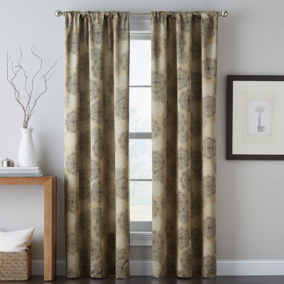 Primavera Rod-Pocket Curtain Panel