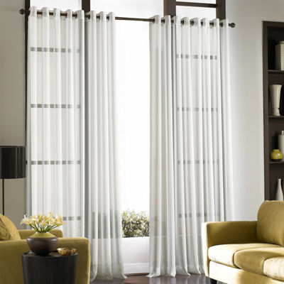 Soho Volile Grommet-Top Sheer Curtain Panel
