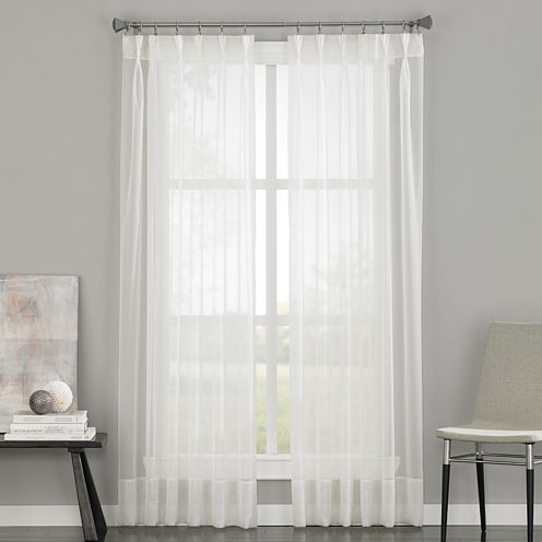 Soho Pinch-Pleat Back-Tab Sheer Curtain Panel