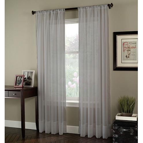 Soho Rod-Pocket Sheer Curtain Panel