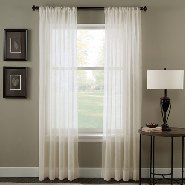 Trinity Sheer Rod-Pocket Curtain Panel