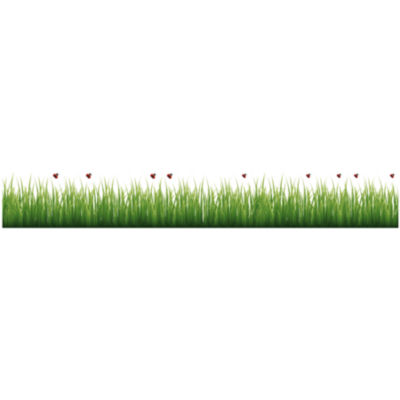 Home Decor Line Grass And Ladybugs Border Decal