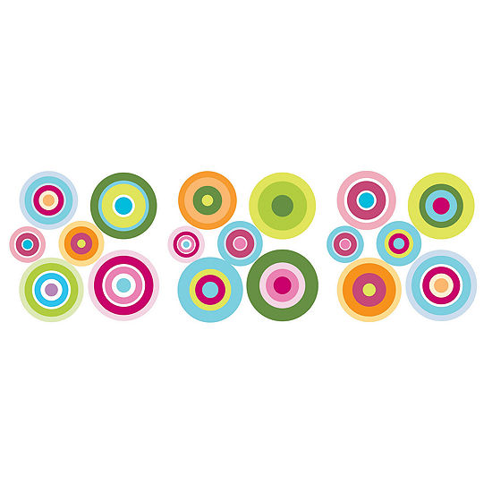 Fun4Walls Candy Dot Wall Stickers- Set of 36