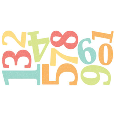 Fun4Walls Numbers Wall Stickers- Set of 22