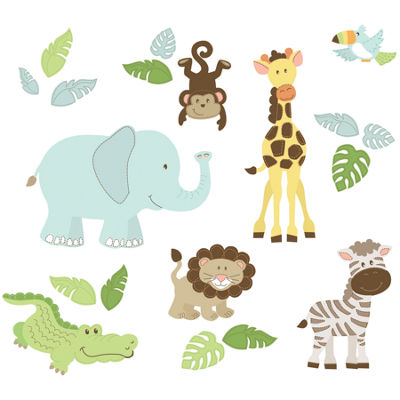 WallPops Safari Buddies Wall Art Kit
