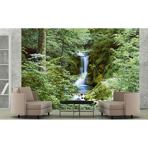 Ideal Décor Waterfall In Spring Wall Mural