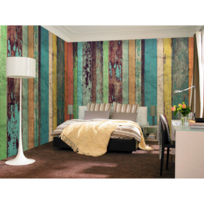 Ideal Décor Colored Wood Wall Mural
