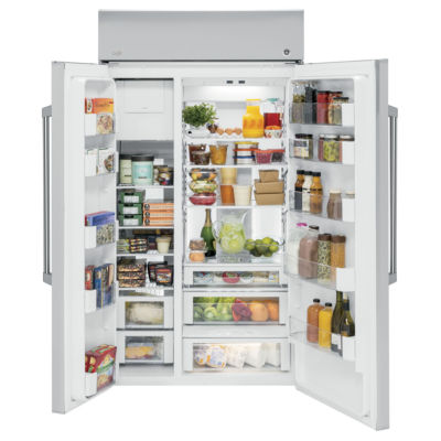 "GE Cafe Series 29.6 cu. ft. 48"" Built-In Side-by-Side Refrigerator"""